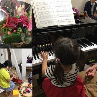 「2歳児親子の音楽遊び」レンタルスペースピアノ内