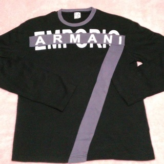 エンポリオアルマーニ長袖Tシャツ(ブラック)