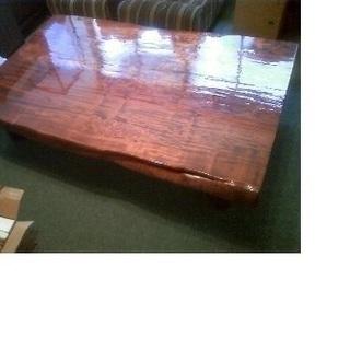 天然木(桜)無垢の一枚板座卓テーブル