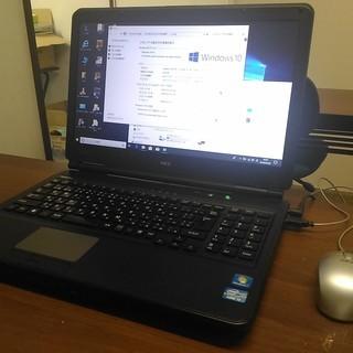 中古パソコンNEC黒15インチ★Windows10pro - パソコン