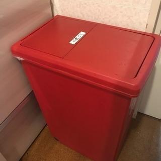 ニトリ ゴミ箱 赤 差し上げます!