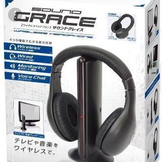 売切!【ほぼ未使用】ワイヤレスヘッドフォン SOUND GRAC...