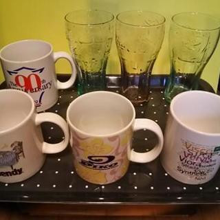 マグカップ4点+グラス3点