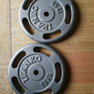 IVANKO 15kg プレート  2枚  ベンチプレス 筋トレ