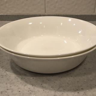 無印良品 ボーンチャイナ 深皿 2枚セット