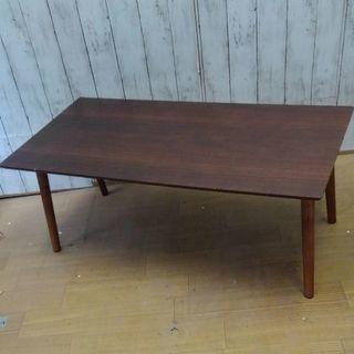 ブラウンウッド折り畳みテーブル2