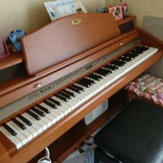 木製鍵盤KAWAIの電子ピアノ