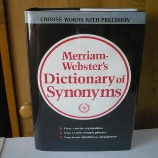 Merriam-Webster Synonyms★英英辞典★状態良し!
