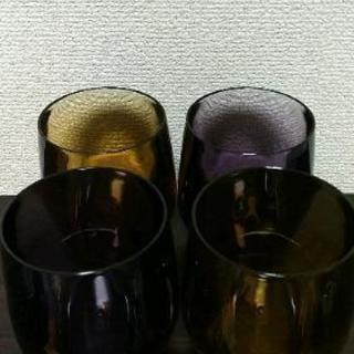 割れない丸型ロックグラス4個セット