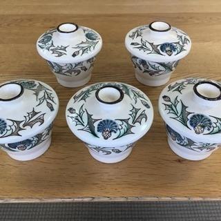 【茶碗蒸し碗5点セット】蓋付小鉢・和食器