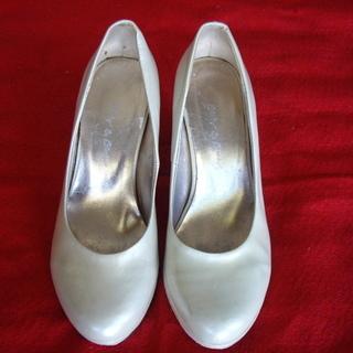 靴(皮)22㎝・ウエッジヒール6㎝