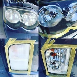 今話題のヘッドライトスチーマー 施工 ヘッドライト再生 磨き 広...
