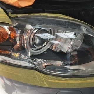 今話題のヘッドライトスチーマー 施工 ヘッドライト再生 磨き 広島 西区 黄ばみ取り - 広島市
