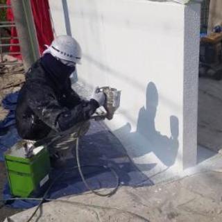 吹き付け塗装、塗装の職人大募集!!