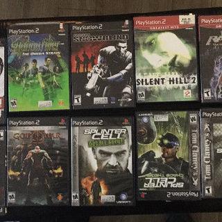 PS1 PS2 のアメリカ地域ビデオゲーム - 売ります・あげます