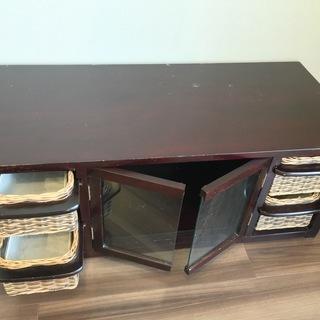 [譲ります]テレビ台 兼 収納 茶色