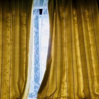 ほぼ新品のカーテン(小)、カーテンフック付き