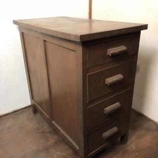 古い木製のサイドチェスト・テーブル 古道具/アンティーク/家具