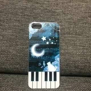 猫柄 ピアノ iPhoneケース 【iphone5/5s/SE専用】