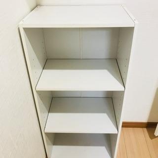 カラーボックス、白、3段、中棚位置変更不可