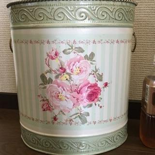 薔薇 アンティーク風 可愛いゴミ箱
