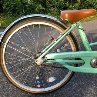 24インチ 変速 LEDライト 鍵付き - 自転車