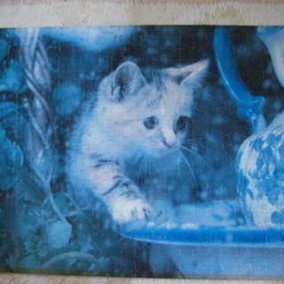 ジャンク変色あり 猫のジグソーパズル