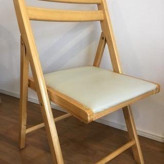 木製折り畳みチェア