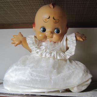 アンティークキューピーちゃん人形 レトロな昭和42年製 高さ56cm