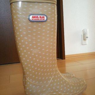 新品レインブーツ長靴24㎝エンジェルブルー/ANGELBLUE