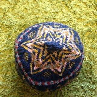 北欧のフェアアイル模様の編み込み帽子 ★ハンドメイド★ - 倉吉市