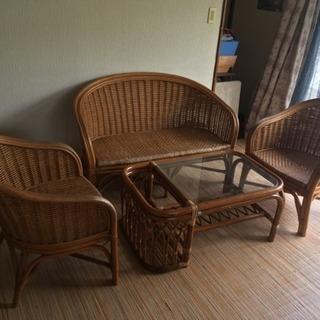 籐の椅子セット
