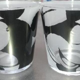 Francfranc ミッキー&ミニーのガラスコップ