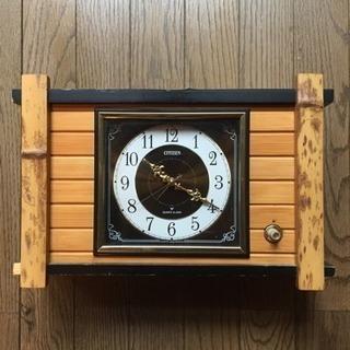 竹細工置き時計