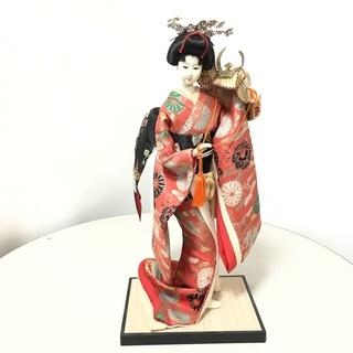 ☆日本人形 兜引き 振り袖 高さ45cm 着物 日本人 簪 かん...