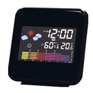 新品☆目覚まし時計 天気予報・温度・湿度表示 LEDカラー