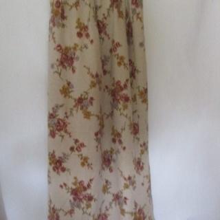 スカート 花柄 M 日本製