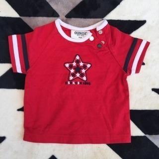 OSHKOSH Tシャツ/オシュコシュ 赤/キレイめUSED