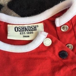 OSHKOSH Tシャツ/オシュコシュ 赤/キレイめUSED - 子供用品