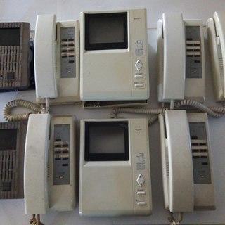 アイホン製二世帯対応独立共用タイプTVドアホン3・6型+インター...