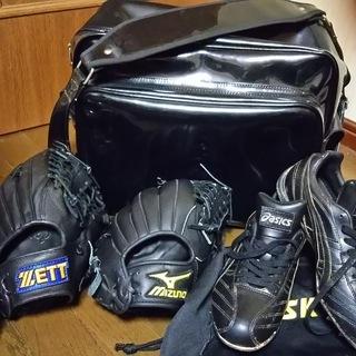 野球道具セット(グローブ×2 スパイク バッグ)新品or新品同様