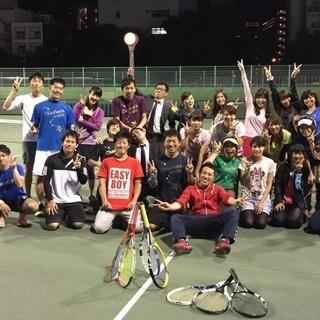 大阪テニスサークル平日(主に火曜)ナイターで靭テニスセンター活動...