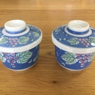 茶碗蒸し碗2点セット(蓋付小鉢・和食器)