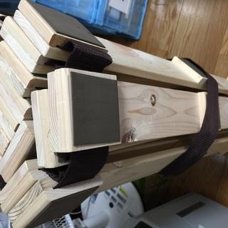 ニトリ ロール式スノコ ベッド ヒノキ 使用1年