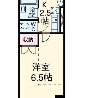 家賃35000円 1K お風呂・トイレ別々 南向き 日当たり・風...