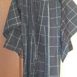 羽織 着物 涼しげな羽織 絣 化繊 紬 浴衣