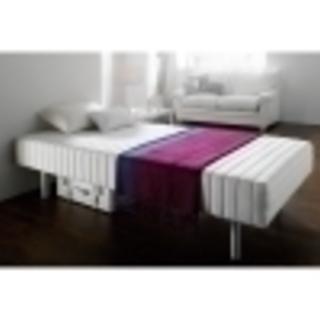 軽くて丈夫なフランスベッド脚付きマットレスベッド シングル 重さ約...