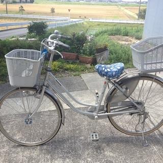 パナソニック自転車 26インチ 籠付(前後) シティサイクル