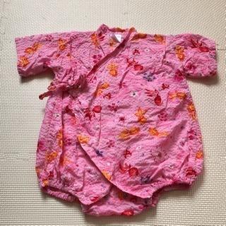 甚平 ロンパース ピンク 女の子🎇
