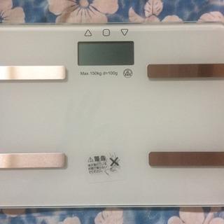 【新品】コンパクト 体重計 薄型 スマート 機能